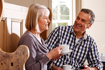 Couple discussing about managing COPD in daily life