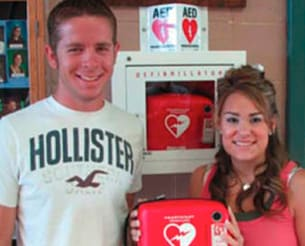 AED save story lindsay