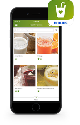 Philips Healthy drinks app