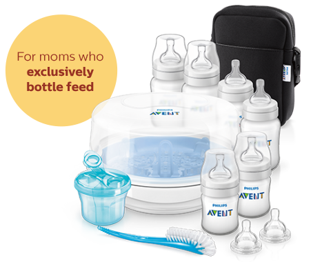 Bottle Feeding Essentials: Bottles, Steam Sterilizer Philps Avent