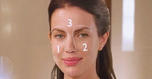 step 2 divide face in 3 zones